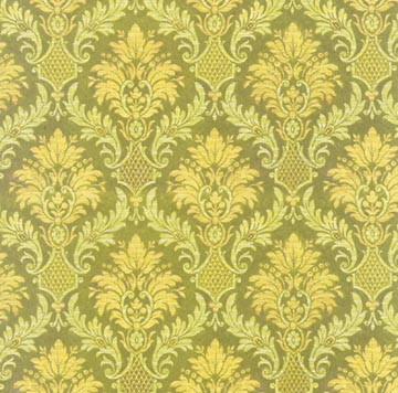 12x12 Anna Griffin/Green Painted Damask