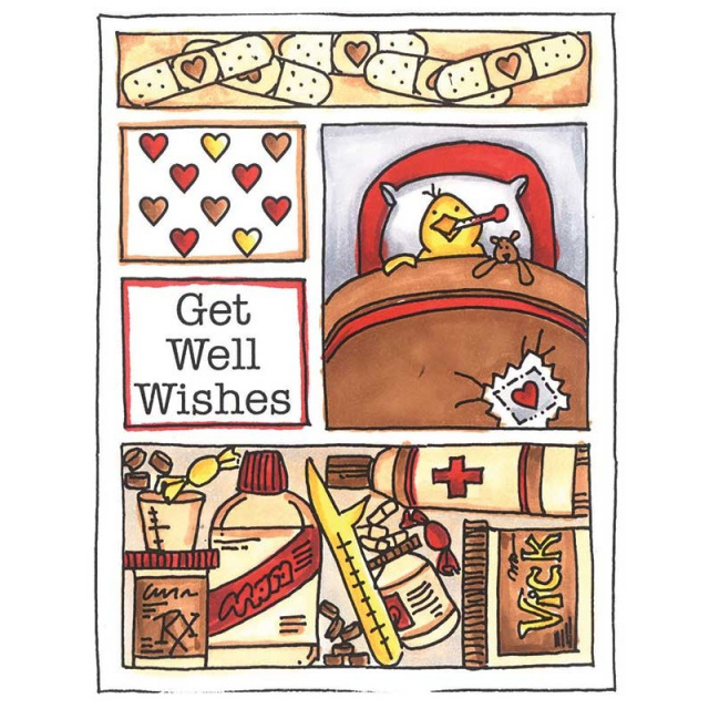 Get Well Mini Frame/Cling