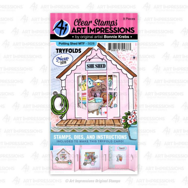 Potting Shed Mini Tryfold Stamps & Dies