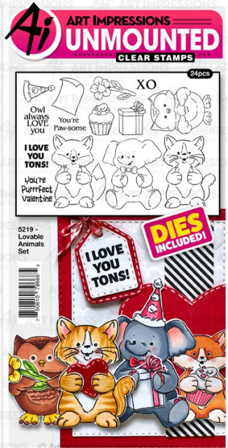 Lovable Animals Stamps & Dies