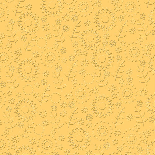 12x12 Embossed French Garden Lemon Drop
