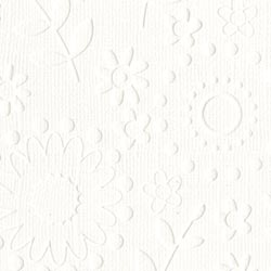 12x12 Embossed French Garden White
