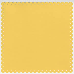 12x12 With An Edge-Small Eyelet Yellow