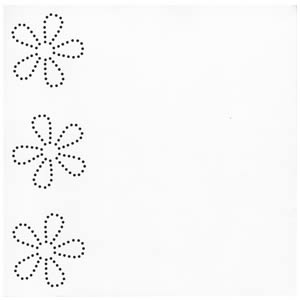 12x12 In Stitch'z Flowers Brilliant White