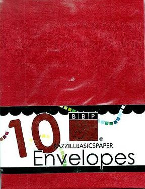 Bazzill A2 Envelopes Ruby Slipper