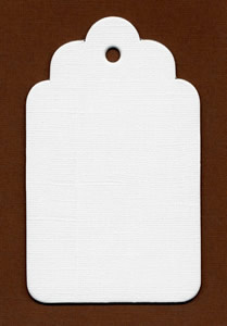 Bazzill Chipboard Tags/Scalloped