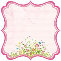 Bella Journal Glitter Die-Cut Pink