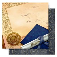 12x12 Double Sided Glitter-Diploma