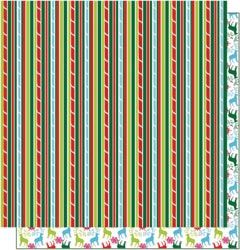 12x12 Double Sided Glitter-Candy Cane Stripes