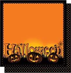 12x12 Double Sided Glitter-Halloween Words