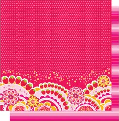 12x12 Double Sided Glitter-Sweetie Pie Strawberry Scallop