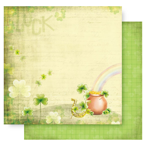 12x12 Double Sided Glitter-St. Patrick Day-Pot Of Gold
