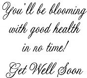 Blooming With Good Health Greeting