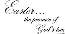 Easter Is God's Love Greeting/Cling Mounted