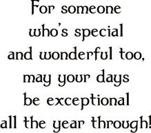Exceptional Year Saying