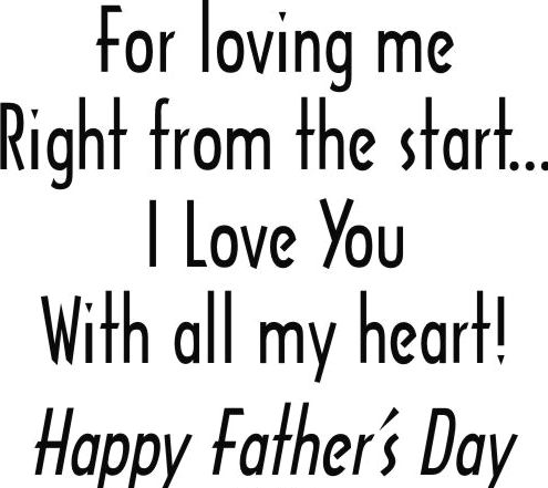 For Loving Me/Father's Day