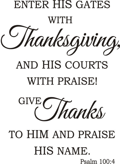 Psalm Give Thanks Greeting