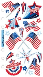Vellum Stickers/4th of July