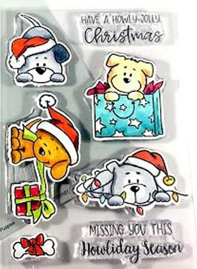 Christmas Puppies/Stamp
