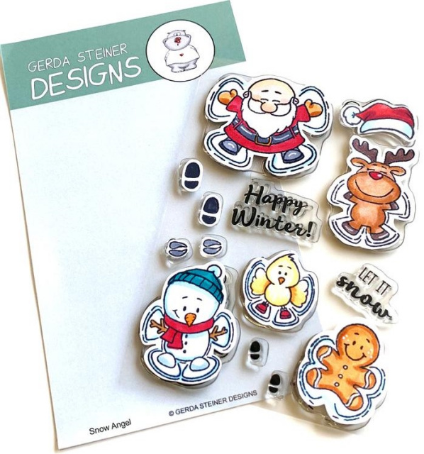 Snow Angel Stamps/Clear
