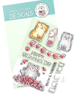 Valentine Cats/Clear