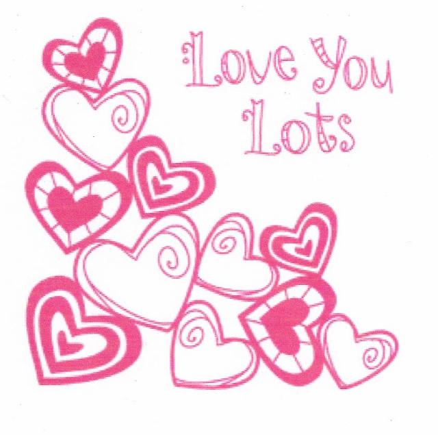 Lots Of Hearts-Clear Mini Stamp Set