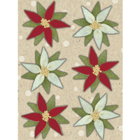 Christmas Cheer Poinsettia Felt Stickers