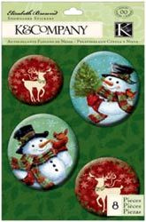 Snowmen Snow Globe Stickers