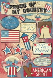 Stars & Stripes Forever Cardstock Stickers
