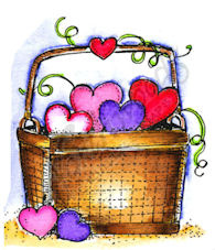 Small Heart Basket