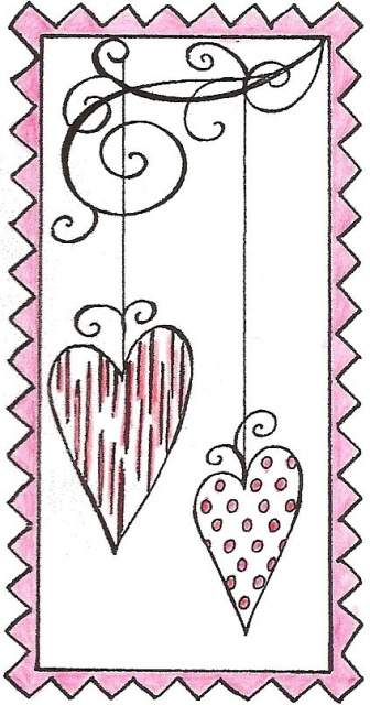 Two Hanging Hearts In Frame