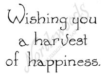 Vintage Wishing You A Harvest Of Happiness