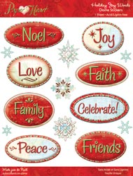 Holiday Words Dome Epoxy Stickers