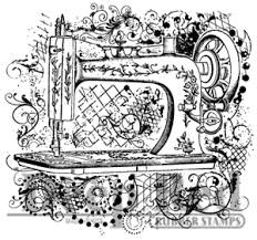 Sewing Machine Flourish/Cling Mounted