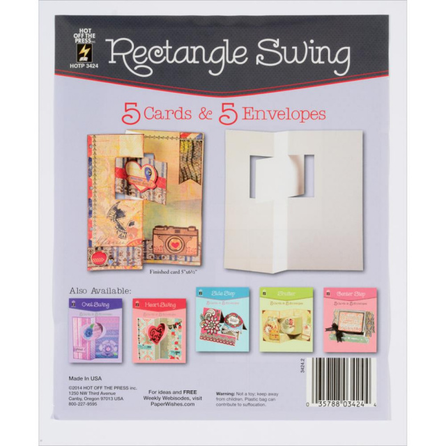 Rectangle Swing Cards & Envelopes 5pkg.