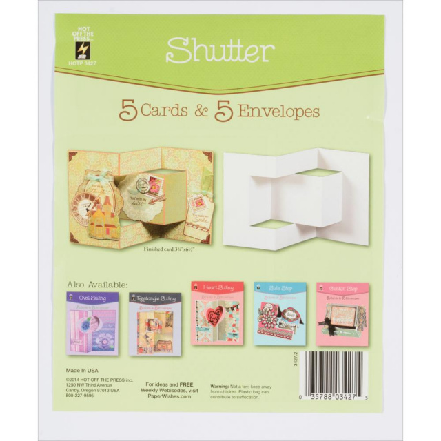 Shutter Cards & Envelopes 5pkg