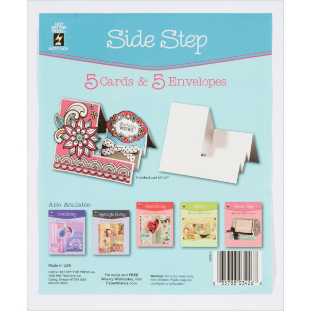 Side Step Cards & Envelopes 5pkg.