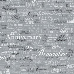 12x12 Silver Anniversary Words
