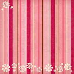 12x12 Flower-Frills Stripes & Floral Flocked Paper