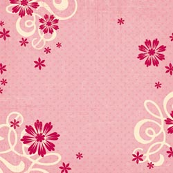 12x12 Flower-Frills & Flocked Paper