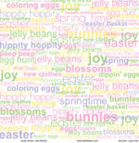 12x12 Easter Words