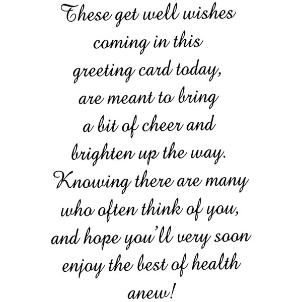 Get Well Wishes/Cling