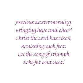 Precious Easter Morning/Cling