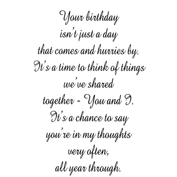 Your Birthday/Cling