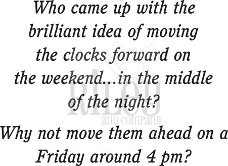Clocks Forward/Humorous