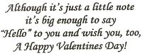 Valentine-Just A Little Note