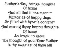 Mother's Day Thoughts Of Home