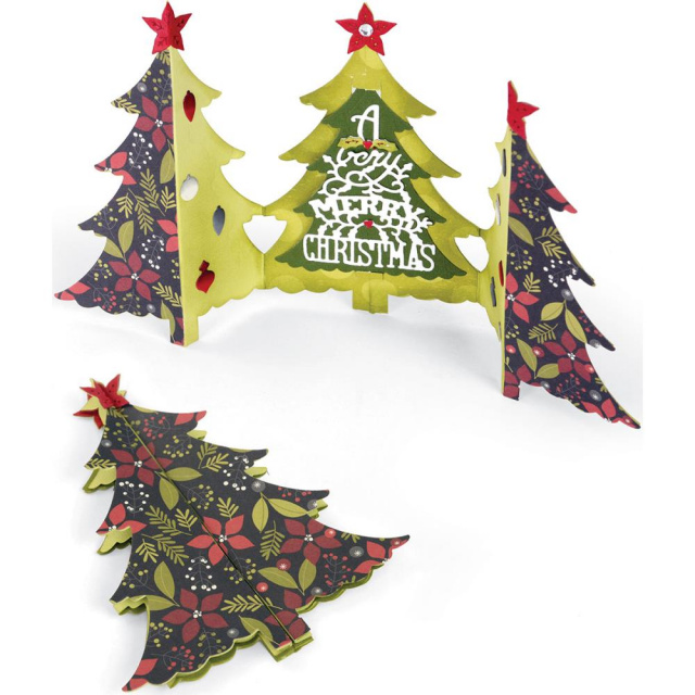 Christmas Tree Fold-A-Long Card/Dies