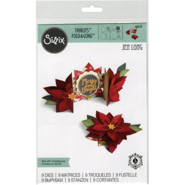 Poinsettia Fold-A-Long Card/Die