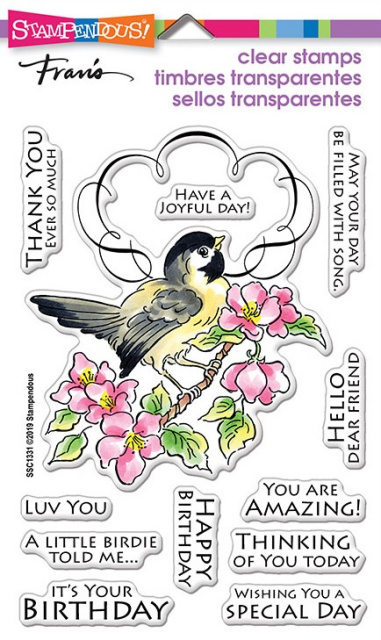 Bird Frame Stamp Set/Clear